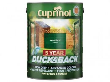 Ducksback 5 Year Waterproof for Sheds & Fences Woodland Moss 5 litre